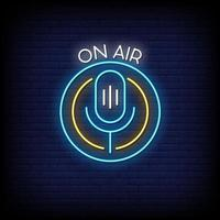 On Air Neon Signs Style Text Vector