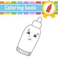 Coloring book for kids - ketchup vector