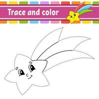Trace and color - shooting star vector