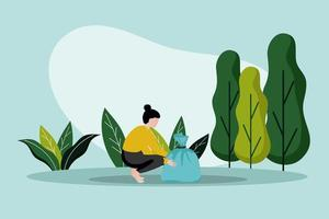 Save earth day flat illustration vector