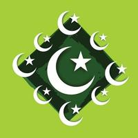 Vector illustration of a Background for Pakistan Independence Day
