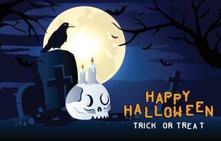 feliz halloween fondo aterrador vector