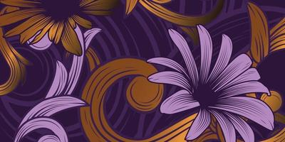 Luxurious Floral Ornament Background vector