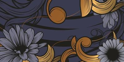 lujoso fondo de adorno floral vector