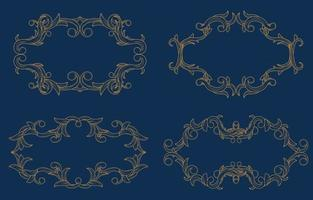 Golden Frame Luxury with Decorative Ornament vector