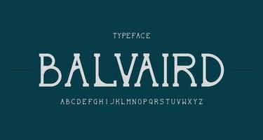 elegante y moderno alfabeto serif fuente vector