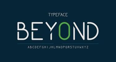 elegante y moderno alfabeto sans serif vector