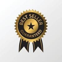 ilustración de la insignia del mejor vendedor vector