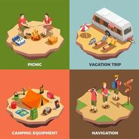 Vacation Trips Design Concept Vector Illustration