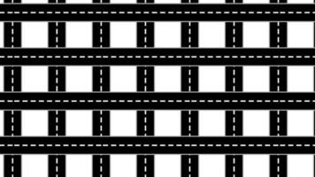 Carretera de asfalto de patrones sin fisuras 4k animación de diseño de movimiento video