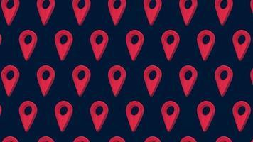 mapa pin navegación puntero ubicación de patrones sin fisuras 4k animación de diseño de movimiento video