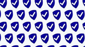 protección escudo seguridad cheque de patrones sin fisuras 4k animación de diseño de movimiento video