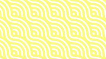 gula nudelvågor minimal rörelse konst sömlösa mönster 4k rörelse design animation abstrakt 3d gör bakgrund slingbar sekvens video