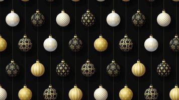 bola de navidad adornos decoración mínimo movimiento arte patrón sin costuras 4k diseño de movimiento animación resumen 3d render fondo secuencia loopable video