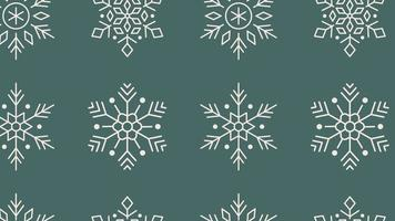 line Snowflake xmas christmas Minimal Motion art seamless pattern 4k motion design animation Abstract 3d render background Loopable sequence video