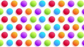 gradiente realistico punto colorato movimento minimo arte seamless pattern 4k motion design animazione astratto 3d rendering sequenza loopable sfondo video