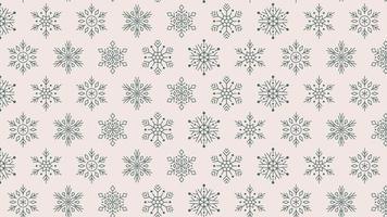 Snowflakes seamless pattern 4k motion design animation video