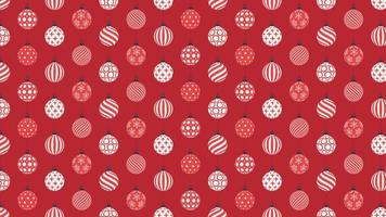 Christmas Ball Baubles Decoration Seamless Pattern 4k Motion Design Animation video