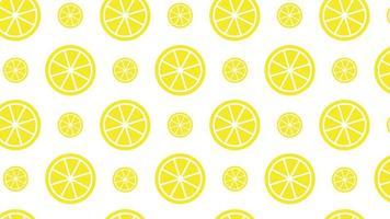 demi-citron modèle sans couture animation de conception de mouvement 4k video
