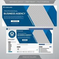 Facebook cover business template vector