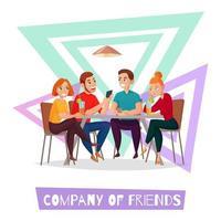 Ilustración de vector de composición simple de visitantes de pub de restaurante