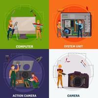 Electronics Repair Concept Vector Illustration