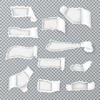 Torn Paper Curls Realistic Vector Illustration
