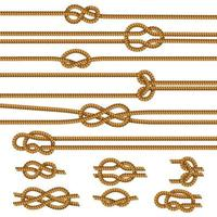 Ropes Knots Realistic Set Vector Illustration
