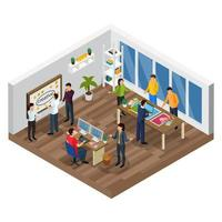 Advertising Agency Isometric Composition Vector Illustration
