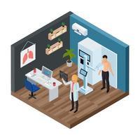Tuberculosis Prevention Isometric Concept Vector Illustration