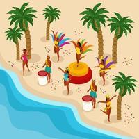 Brazilian Carnival Illustration Vector Illustration