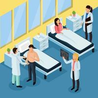 Tuberculosis Prevention Isometric Background Vector Illustration