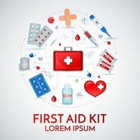 First Aid Realistic Composition Vector Illustration