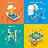 Brain Copying Design Concept Vector Illustration