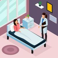 Tuberculosis Prevention Isometric Composition Vector Illustration