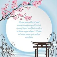 Sakura Cartoon Concept Vector Illustration
