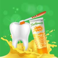Tooth Dental Care Realistic Vector Illustration