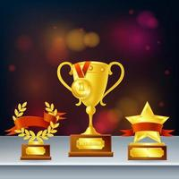 Awards Realistic Composition Vector Illustration