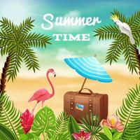 Time To Travel Background Vector Illustration