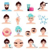 Rejuvenation Treatments Set Vector Illustration