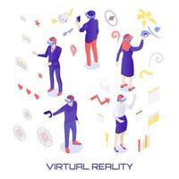 Virtual World Isometric Illustration Vector Illustration