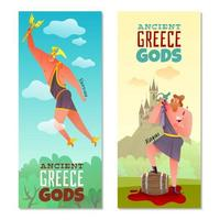 Ancient Greece Gods Banners Vector Illustration