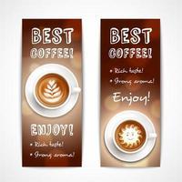 Best Coffee Art Banners Vector Illustration