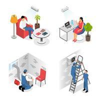 Air Conditioners Design Concept Vector Illustration