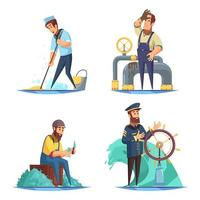 Nautical 2x2 Design Concept Vector Illustration