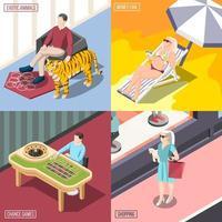 Rich Life 2x2 Design Concept Vector Illustration