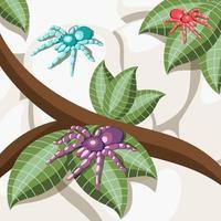 Ilustración de vector de fondo isométrico de insectos exóticos