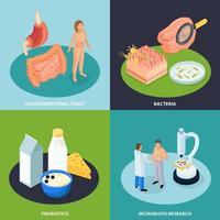 Probiotics Isometric Design Concept Vector Illustration