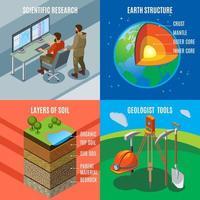 Earth Exploration Isometric Design Concept Vector Illustration