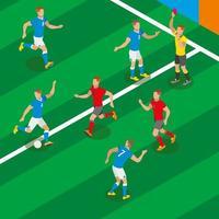 Ilustración de vector de composición isométrica de fútbol
